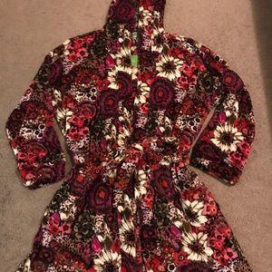 NEW Vera Bradley Hooded Robe